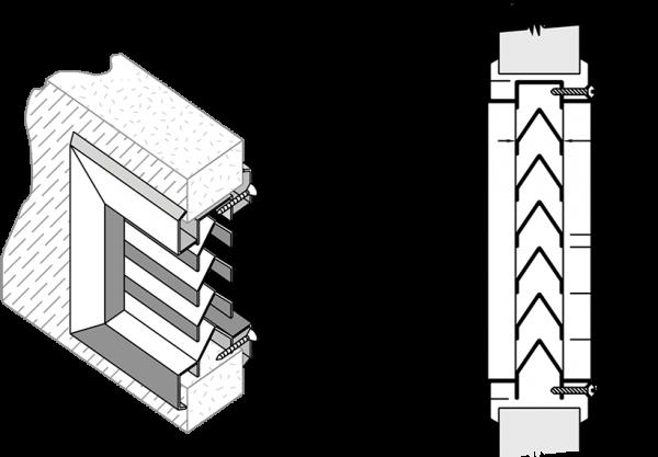 louvre ventilation doors